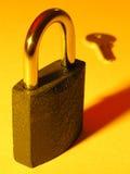 Blocage et clé Photographie stock libre de droits