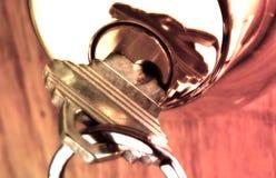Blocage et clé image stock