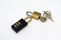 Blocage et clé Photos stock