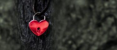 Blocage rouge de coeur photo stock