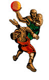 Blocage trempant de Basketballer Image stock