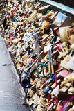 Blocages d'amour Photographie stock libre de droits