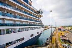 Blocages de Gatun, canal de Panama C'est le premier ensemble Images libres de droits