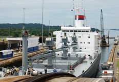 Blocages de Gatun de canal de Panama Images stock