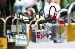 Blocages de l'amour Image stock