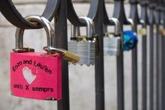 Blocages de l'amour Photos libres de droits