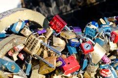 Blocages de l'amour Photo stock