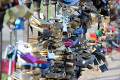 Blocages de l'amour Photographie stock libre de droits