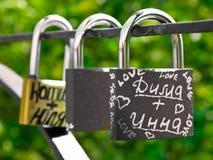 Blocages de mariage Images libres de droits