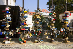 Blocages de Prague Photos libres de droits