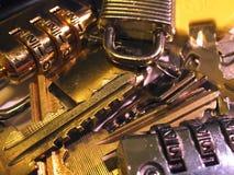 Blocages et clés Images stock