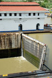 blocages fermés Panama de canal Images libres de droits