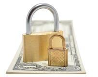 Blocages sur l'argent Image stock