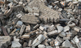 Blocaille de démolition Photographie stock