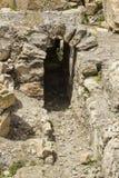 Blocaille excavée au mur du sud du bâti de theTemple à Jérusalem image libre de droits