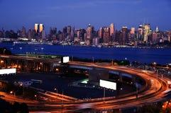 Bloccaggio del Midtown New York, spazio dell'annuncio Fotografia Stock