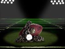 Bloccaggio del NFL - sui comp. del campo Immagine Stock Libera da Diritti