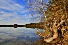Bloccaggio di HDR di un lago in Baviera in autunno Immagini Stock