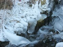 Bloccato dal ghiaccio immagini stock