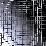 Blocchetti astratti di frattali della priorità bassa del cubo 01 Fotografia Stock