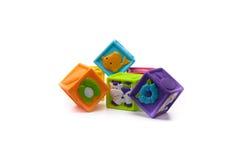 Blocchetti colorati del gioco Fotografia Stock Libera da Diritti