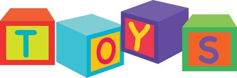 Blocchetti dei giocattoli Fotografia Stock