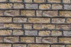 Blocchetti del calcare del fondo i diversi del blocchetto del cemento della struttura di pietra naturale del confine hanno piegat fotografia stock libera da diritti