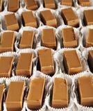 Blocchetti del dolce del cioccolato Fotografie Stock
