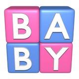 Blocchetti del giocattolo del bambino Fotografia Stock Libera da Diritti