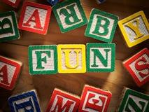 Blocchetti del giocattolo di divertimento Fotografia Stock Libera da Diritti