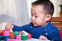Blocchetti del giocattolo e del bambino Immagine Stock Libera da Diritti