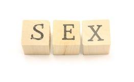 Blocchetti del sesso fotografia stock libera da diritti