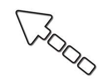Blocchetti della freccia Fotografia Stock Libera da Diritti