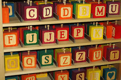 Blocchetti della lettera Immagine Stock