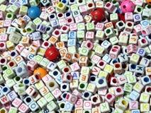 Blocchetti della lettera alfabetica Fotografia Stock
