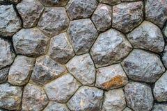 Blocchetti della parete di pietre per il modello ed il fondo fotografia stock libera da diritti