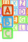 Blocchetti di ABC Immagine Stock