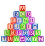 Blocchetti di ABC Fotografie Stock