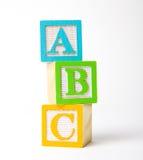 Blocchetti di ABC fotografia stock
