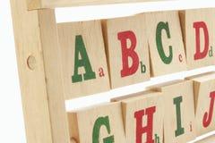 Blocchetti di alfabeto Fotografie Stock