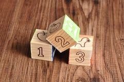 Blocchetti 123 di alfabeto Immagine Stock