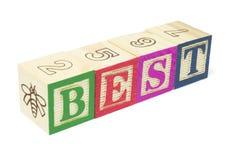 Blocchetti di alfabeto - la cosa migliore fotografie stock libere da diritti