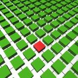 Blocchetti di dati nella coordinata Immagine Stock Libera da Diritti