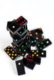 Aumento e caduta di domino Fotografia Stock Libera da Diritti