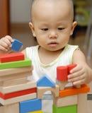 Blocchetti di legno del giocattolo Fotografie Stock