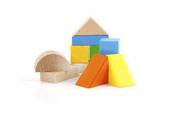 Blocchetti di legno del giocattolo Fotografia Stock Libera da Diritti