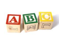 Blocchetti di legno di ABC Fotografia Stock