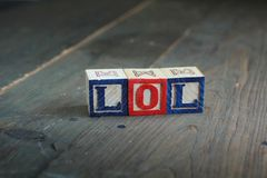 Blocchetti di legno di Lol Fotografia Stock Libera da Diritti
