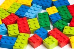 Blocchetti di Lego Fotografie Stock Libere da Diritti