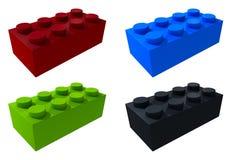 blocchetti di lego 3D isolati Fotografie Stock